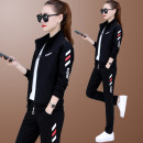 Sweater / sweater Autumn 2020 M L XL 2XL 3XL 4XL Long sleeves routine Cardigan Upper and lower sleeve routine stand collar easy commute routine letter 25-29 years old Xia Dian Korean version pocket Cotton liner Pure e-commerce (online only) zipper