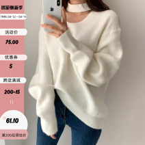 sweater Autumn 2020 M White, black, green, pink Long sleeves Socket singleton  Regular acrylic fibres 31% (inclusive) - 50% (inclusive) Crew neck Regular street routine Solid color Straight cylinder Regular wool Keep warm and warm 18-24 years old EUT9138V0K Resin fixation