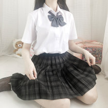 skirt Summer 2020 Versatile High waist A-line skirt 18-24 years old 301g / m ^ 2 (including) - 350g / m ^ 2 (including)
