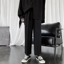 Casual pants Zijun Youth fashion Black, gray, black plush, > Click to view size < select color in front to take this picture M,L,XL,2XL routine trousers Other leisure easy spring teenagers like a breath of fresh air 2020
