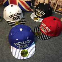 Hat Average size White red blue black Reference age - 2-12 years old neutral peaked cap dome motion Other / other Short eaves Pure cotton (95% and above) 117 (stripe NYC)
