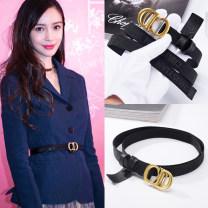 Belt / belt / chain canvas CD buckle 2.0cm female belt Versatile Single loop Double buckle letter Embossing 2cm copper weave Dorendio T-088 95cm 100cm 105cm 110cm 115cm Spring of 2019