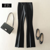 Casual pants Black, white, blue S,L,M,XL,2XL Winter of 2019 trousers Flared trousers High waist X9216