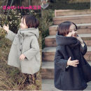woolen coat female Other / other Wool Official pictures No detachable cap Korean version Plush winter Single breasted Polyester 100% Solid color Crew neck other Polyester 100% Intradermal bile duct
