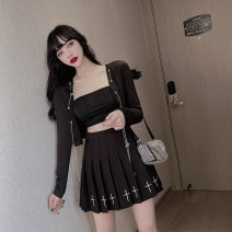 Fashion suit Summer 2021 S,M,L Coat with bra, cross skirt 18-25 years old C0401 cotton