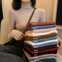 Wool knitwear Autumn 2020 Average size Coffee, lake blue, white, purple, red, black, oat, brick red, fog blue, light pink, cream apricot, dirty orange, skin pink, flower gray, retro green Long sleeves singleton  Socket other 81% (inclusive) - 90% (inclusive) Regular routine Self cultivation routine