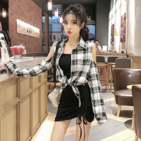 Fashion suit Spring 2020 S,M,L,XL Black and white suit, single black and white jacket, single suspender skirt, single red jacket, red suit, off shoulder black and white jacket, off shoulder black and white jacket 18-25 years old Other / other seven point one nine