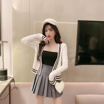 Fashion suit Spring 2020 S. M, l, average size White sweater with bra, black sweater with bra, white three piece set, black three piece set 18-25 years old Other / other