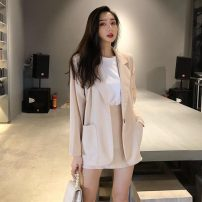 Fashion suit Spring 2021 Average size Apricot, light blue, black 18-25 years old B