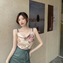 Fashion suit Summer 2021 S. M, average size Floral sling, split skirt 18-25 years old A0401 96% and above nylon