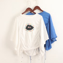 T-shirt White, royal blue XS,S,M Short sleeve Polo collar easy Regular routine commute other 96% and above Solid color Other / other