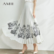 skirt Summer 2020 Description of Mibai Mid length dress commute Natural waist A-line skirt other Type A 25-29 years old More than 95% other Amii polyester fiber printing Simplicity Polyester 100% Same model in shopping mall (sold online and offline)