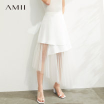 skirt Summer 2020 Middle-skirt commute Natural waist Irregular Solid color Type A 25-29 years old QZ1-1204TM0282 81% (inclusive) - 90% (inclusive) Amii polyester fiber Splicing Simplicity Polyester fiber 90% polyurethane elastic fiber (spandex) 10%