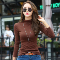T-shirt S M L XL XXL XXXL Winter of 2018 Long sleeves Half high collar Self cultivation Regular routine commute polyester fiber 51% (inclusive) - 70% (inclusive) 30-39 years old Korean version classic Solid color Kavier Bonwe Polyester 61% cotton 35% polyurethane elastic fiber (spandex) 4%