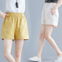 Casual pants It's milky white, it's milky yellow M,L,XL,2XL,3XL Summer of 2019 shorts Wide leg pants Natural waist commute routine 30-34 years old 51% (inclusive) - 70% (inclusive) 0523-02 Other / other Cotton blended fabric literature pocket cotton