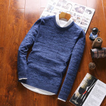 T-shirt Youth fashion thin M L XL XXL XXXL JXAETE Long sleeves Crew neck Self cultivation daily autumn Cotton 100% teenagers routine Japanese Retro Knitted fabric Fall 2017 stripe Color contrast cotton washing Domestic non famous brands Pure e-commerce (online only) More than 95%