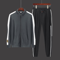 Leisure sports suit autumn M L XL XXL XXXL Ds-12071 dark grey ds-12071 red ds-12071 black Long sleeves JXAETE trousers youth Sweater DS-12071DU polyester fiber Summer 2020 95% polyester 5% spandex