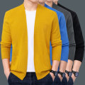Jacket JXAETE Youth fashion XXL XXXL M L XL routine Self cultivation Other leisure autumn Long sleeves V-neck tide youth routine Cardigan Rib hem No iron treatment routine Solid color Knitted fabric Autumn 2020 Rib bottom pendulum Three dimensional bag Pure e-commerce (online only) other