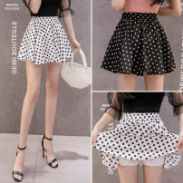 skirt Summer 2021 S,M,L,XL White dots, black dots Short skirt commute High waist A-line skirt Dot Type A 18-24 years old AJ919 51% (inclusive) - 70% (inclusive) other Other / other other fold Korean version
