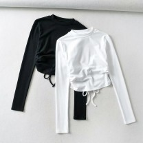 T-shirt White as shown in the picture, black as shown in the picture S, M Autumn 2020 Long sleeves Self cultivation street other 86% (inclusive) -95% (inclusive) 18-24 years old Europe and America