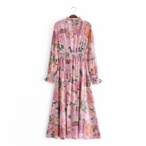 Dress Autumn 2020 As shown in the figure S,M,L Mid length dress singleton  Long sleeves street 18-24 years old Europe and America