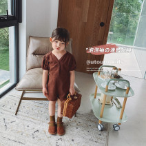 trousers UTOUTO female 80cm,90cm,100cm,110cm,120cm,130cm,140cm Dark brown summer shorts There are models in the real shooting Jumpsuits 2 years old, 3 years old, 4 years old, 5 years old, 6 years old, 7 years old, 8 years old