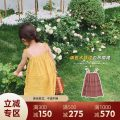 Dress Corn yellow, pink female UTOUTO 80cm,90cm,100cm,110cm,120cm,130cm,140cm Other 100% summer leisure time Skirt / vest other other 2 years old, 3 years old, 4 years old, 5 years old, 6 years old, 7 years old, 8 years old