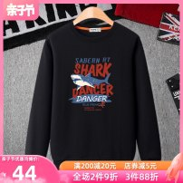 Sweater / sweater The sound of the waves Blue black army green orange gray male 140cm 150cm 160cm 170cm 180cm spring and autumn No detachable cap motion Socket routine No model cotton Cartoon animation Cotton 50% polyester 50% WY18-014 Class B Cotton liner Spring 2021