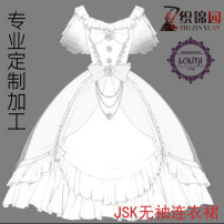 Dress Spring of 2018 custom color The first proofing and plate making garment of the same color Mid length dress singleton  Short sleeve Sweet Crew neck middle-waisted other other other Others Type A Dress customization Lolita