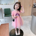 Dress Purple, pink female Other / other 90cm tag 90 is suitable for 1-2 years old, 100cm tag 100 is suitable for 2-3 years old, 110cm tag 110 is suitable for 3-4 years old, 120cm tag 120 is suitable for 4-5 years old, 130cm tag 130 is suitable for 5-6 years old summer Korean version Long sleeves B105