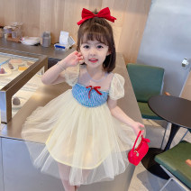 Dress Beige female Other / other 90cm tag 90 is suitable for 1-2 years old, 100cm tag 100 is suitable for 2-3 years old, 110cm tag 110 is suitable for 3-4 years old, 120cm tag 120 is suitable for 4-5 years old, 130cm tag 130 is suitable for 5-6 years old summer Korean version Short sleeve other