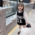 Dress Black vest skirt, pink bubble sleeves, black bubble sleeves, milky white bubble sleeves female Other / other Cotton 95% polyurethane elastic fiber (spandex) 5% spring Korean version Long sleeves letter cotton Straight skirt F057 Class A Chinese Mainland
