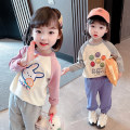 T-shirt Grey, pink Other / other 80cm tag 80 is suitable for 0-1 years old, 90cm tag 90 is suitable for 1-2 years old, 100cm tag 100 is suitable for 2-3 years old, 110cm tag 110 is suitable for 3-4 years old, 120cm tag 120 is suitable for 4-5 years old, 130cm tag 130 is suitable for 5-6 years old