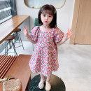 Dress violet female Other / other 90cm tag 90 is suitable for 1-2 years old, 100cm tag 100 is suitable for 2-3 years old, 110cm tag 110 is suitable for 3-4 years old, 120cm tag 120 is suitable for 4-5 years old, 130cm tag 130 is suitable for 5-6 years old summer Korean version Short sleeve cotton