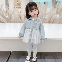 Plain coat Other / other female 80cm tag 80 is suitable for 0-1 years old, 90cm tag 90 is suitable for 1-2 years old, 100cm tag 100 is suitable for 2-3 years old, 110cm tag 110 is suitable for 3-4 years old, 120cm tag 120 is suitable for 4-5 years old, 130cm tag 130 is suitable for 5-6 years old blue