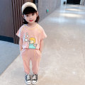 suit Other / other Green, gray, pink 90cm tag 90 is suitable for 1-2 years old, 100cm tag 100 is suitable for 2-3 years old, 110cm tag 110 is suitable for 3-4 years old, 120cm tag 120 is suitable for 4-5 years old, 130cm tag 130 is suitable for 5-6 years old female summer Korean version 2 pieces