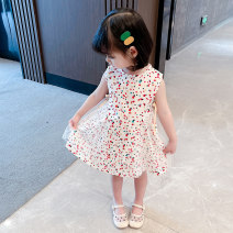 Dress babysbreath female Other / other Cotton 95% polyurethane elastic fiber (spandex) 5% summer Korean version Short sleeve stars cotton A-line skirt XDXFG182 Class A 3 months, 12 months, 6 months, 9 months, 18 months, 2 years old, 3 years old, 4 years old, 5 years old, 6 years old Chinese Mainland