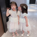 Dress Blue, pink female Other / other 90cm tag 90 is suitable for 1-2 years old, 100cm tag 100 is suitable for 2-3 years old, 110cm tag 110 is suitable for 3-4 years old, 120cm tag 120 is suitable for 4-5 years old, 130cm tag 130 is suitable for 5-6 years old summer Korean version Short sleeve other