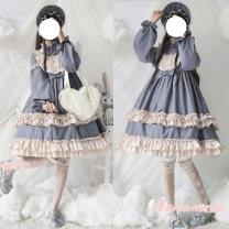 Dress Autumn of 2019 S,M,L Mid length dress Long sleeves Sweet Lolita