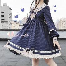 Dress Autumn of 2019 S,M,L Middle-skirt singleton  Long sleeves Sweet Lolita