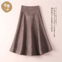skirt Winter of 2019 S M L XL Purple and camel Mid length dress commute Natural waist Umbrella skirt Type A B9030 51% (inclusive) - 70% (inclusive) zigezi polyester fiber Korean version Polyester 69.7% pan 18.4% wool 5.9% polyamide 4% cotton 2% Pure e-commerce (online only)
