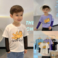 T-shirt Chen Chen's mother 80, 90, 100, 110, 120, 130, 140 male spring Long sleeves Crew neck leisure time There are models in the real shooting nothing cotton Cartoon animation Cotton 98% other 2% BJ2182 12 months, 9 months, 18 months, 2 years old, 3 years old, 4 years old, 5 years old, 6 years old