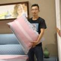Bedding Set / four piece set / multi piece set cotton Quilting stripe other Other / other cotton 4 pieces other Bed skirt First Grade 100% cotton other Reactive Print