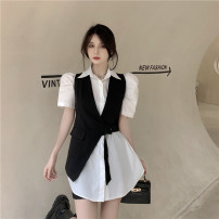 Fashion suit Summer 2021 S. M, average size Irregular waistcoat, shirt skirt 18-25 years old Other / other