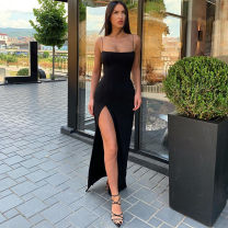 Dress Spring 2020 Black, red, grey S,M,L Mid length dress singleton  street High waist camisole 18-24 years old Sisjuly D1735259 91% (inclusive) - 95% (inclusive) polyester fiber Europe and America