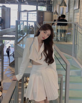 Fashion suit Spring 2021 S. M, l, average size White suit jacket, pleated skirt 18-25 years old #77109 polyester fiber
