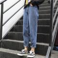Women's large Spring 2021, summer 2021 Blue, black Large size L [100-120 Jin recommended], large XL [120-140 Jin recommended], large 2XL [140-160 Jin recommended], large 3XL [160-180 Jin recommended], large 4XL [180-200 Jin recommended], m [80-100 Jin recommended] trousers singleton  commute moderate