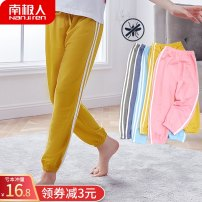 trousers NGGGN female 90cm 100cm 110cm 120cm 130cm 140cm 150cm Bean green black yellow light blue gray pink denim blue summer trousers leisure time There are models in the real shooting Knickerbockers Leather belt middle-waisted cotton Don't open the crotch Other 100% KX00001X1 Class B KX00001X