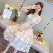 Dress Spring 2021 Picture color S,M,L,XL Miniskirt singleton  Short sleeve commute other High waist Socket routine Others 25-29 years old Korean version 31% (inclusive) - 50% (inclusive)