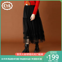 skirt Winter 2020 XS S M L XL black longuette Natural waist 200234338-H0 More than 95% C&A polyester fiber Polyester 100% Same model in shopping mall (sold online and offline)